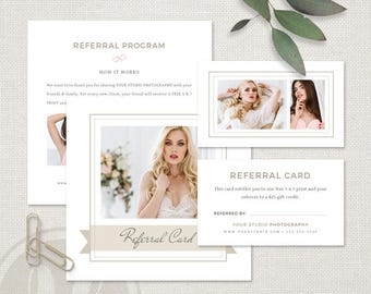 Photography Referral Card - Boudoir Photography Referral Card Template, Photography Referral Program, Instant Download, Tell a Friend