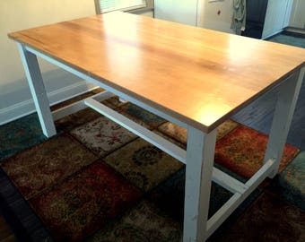 Rustic Trestle Leg Farm Table: The Greenspring Valley