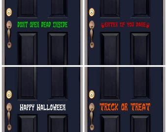 Spooky Halloween Door Decal