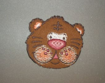 Application thermocollante embroidered on felt Teddy bear - 6th ref pattern
