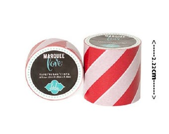 Masking tape / Washi tape - red and white fancy