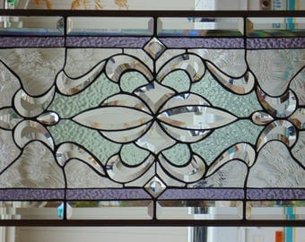 Stained Glass Window Hanging 28 1/2 X 14 5/8