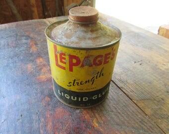 Vintage LePage's glue can