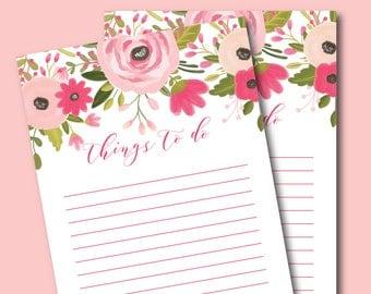 Printable To Do List, Daily To Do List, To-Do Planner Insert, Printable Planner Insert, To Do List Planner, Printable Stationery #CLP103