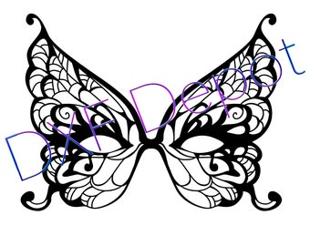 Mask - DXF - Vector Art - Clip Art -Svg - Png - AI - Jpeg - Pdf  - Cricut - Laser Cutting Files