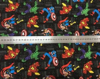 "100x110cm/39""x43"" Superhero The Avengers Captain America Hulk Iron Man Comics Character Cotton Plain Fabric"