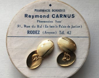 Rolled gold cufflinks 1960's