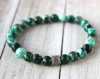 Mens Green Bracelet