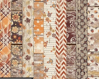 On Sale 50% Off Grateful, Thanksgiving, Fall Worn Wood Papers Digital Scrapbooking Holiday Kit