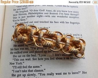 60s Gold Barrette Signed by  Kirks Folly France USA