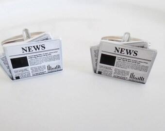 Newspaper Cuff Links - Quality Stylish Gift