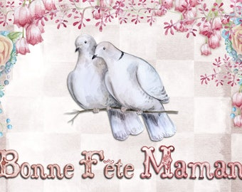 Happy Mother's Day greeting card handmade 21cm x 15cm