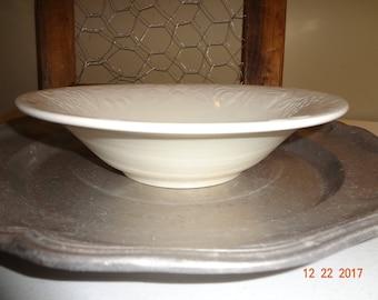 Vintage Farmhouse Ceramic Stoneware Bowl with fruit design