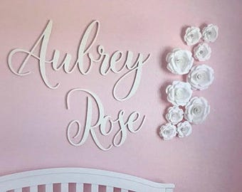 Unpainted Wooden Name Sign - Wood Name Wall Hanging - Nursery Wall Hanging - Dorm Room Wall Hanging