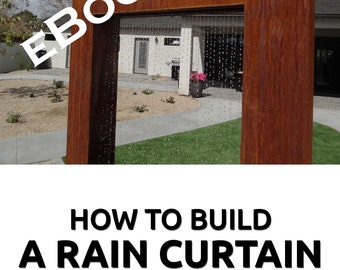 How to build a rain curtain water effect