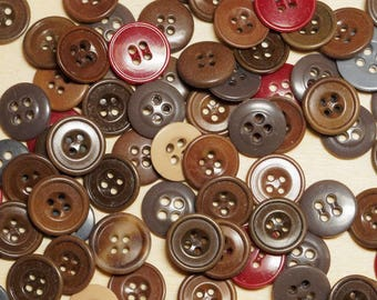 Set of 40 buttons round colorizes diameters