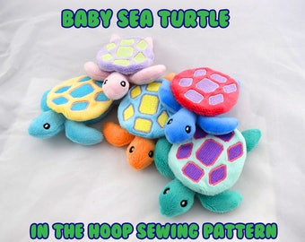 Baby Sea Turtle In the Hoop 5x7 Sewing Pattern
