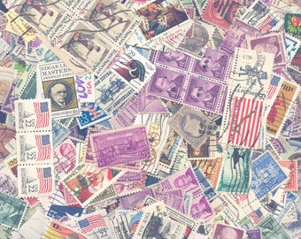 United States Postage Stamps - A Mixture of Used Stamps, from the Early 1900's til the late 1990's. A little bit of everything!!