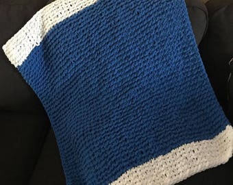 Color Blocked Knit Baby Blanket