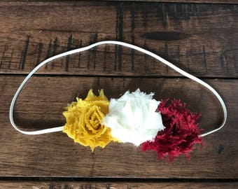 On SALE, Maroon, Mustard, Cream, Autumn and Fall Headband