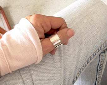 Wide silver ring, chunky silver ring, Silver statement ring, Sterling silver ring band, silver rings for women