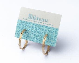 Bronze hoop earrings , stylish and elegant!