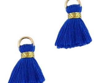Beaded tassels, tassels, tassel pendant-1.5 cm-3 pcs.-Color selectable (color: blue)