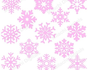 60% OFF SALE Snowflakes clipart, winter clipart, vector graphics, holiday clipart, digital clip art, commercial use - M458