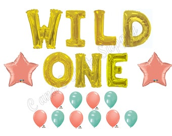 "LARGE 34"" WILD ONE Tribal 1st Birthday Party Balloons Decoration Supplies First"