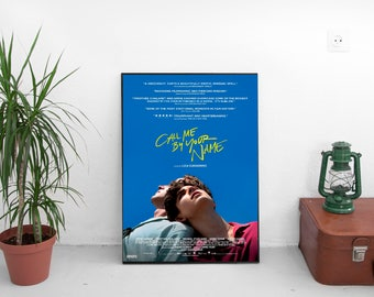 """Call Me By Your Name Movie Poster - Luca Guadagnino Film - With Armie Hammer Timothée Chalamet - Art Print Size 13x20"""" 24x36"""" 27x40"""" 32x48"""""""