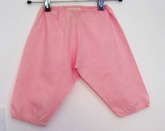 Pink cotton baby bloomers