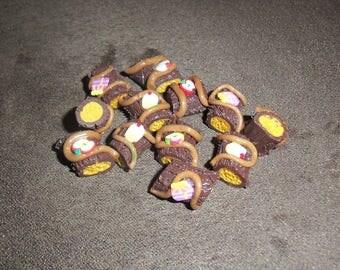 1 charm gourmet share of Mocha chocolate Christmas log