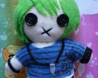 "Handmade Danganronpa V3 Rantaro Amami small plush keychain 9"""