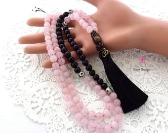 108 Mala Beads – Mala Necklace – Prayer Beads – Yoga Jewelry - Meditation - Buddhist Prayer Beads.