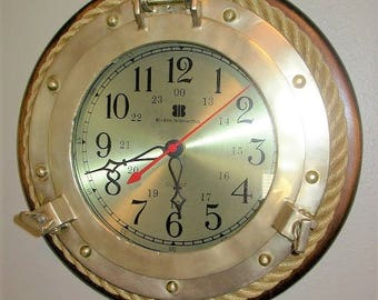 Vintage Bey Berk Nautical Porthole Clock