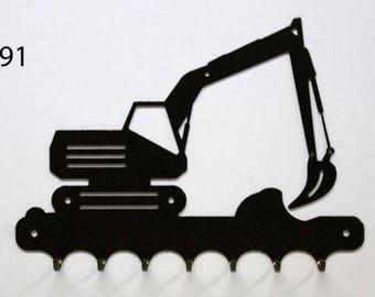 Hangs 26 cm pattern metal keys: backhoe Caterpillar