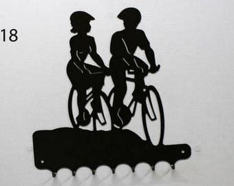 Hangs 26 cm pattern metal keys: bicycle couple