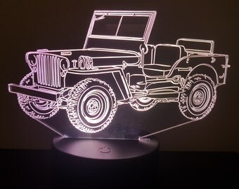 Lamp 3D pattern: Jeep Wyllis