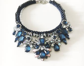 Blue night statement necklace