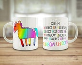 Rainbow Unicorn mug, Unic...