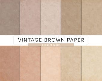 Vintage Paper Texture / Digital Paper / Old Parchment Pattern Vintage Brown Cardboard JPG Files Commercial Use Allowed / INSTANT DOWNLOAD