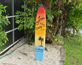 Tiki bar Decor. Family Oasis wood sign. Housewarming gift Idea. Beach House wooden gift. Its 5 O'clock somewhere.