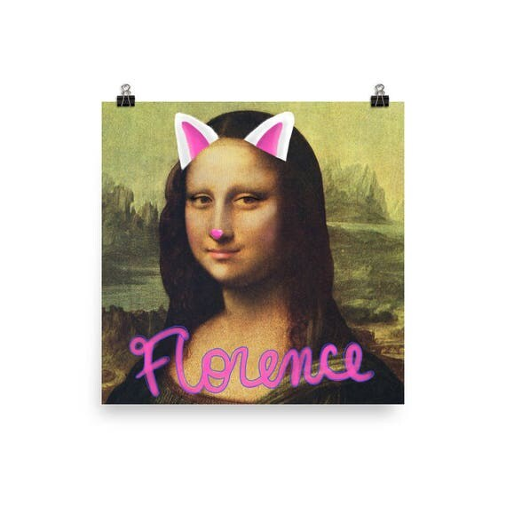 Mona Lisa Filter Poster