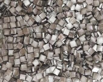 Resin mosaic tiles, 5x5 mm, Metallic effect, Silver