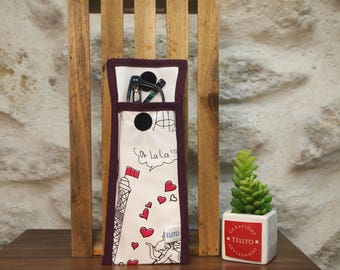 Romantic Paris oilcloth glasses case