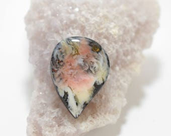 Feather Ridge Plume Agate Cabochon
