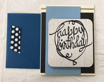 "Handcrafted ""Happy Birthday"" card"