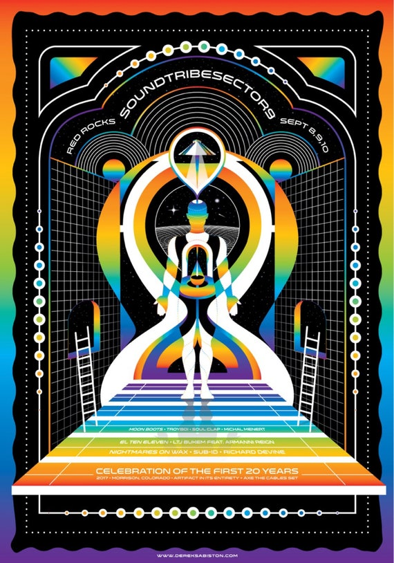 STS9 Red Rocks Amphitheatre 2017 Poster V2 print