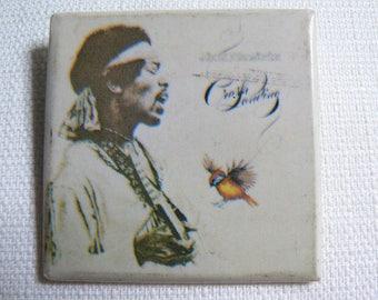 BIG Vintage Late 70s Jimi Hendrix - Crash Landing Album (1975) Pin / Button / Badge