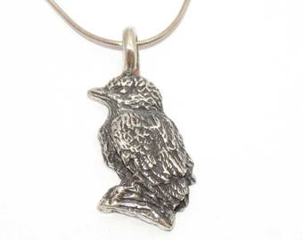 "Solid Silver Bird Pendant on 18"" sterling silver chain"